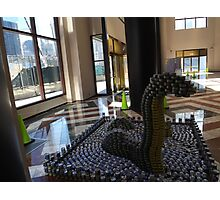 Canstruction, LoCANness Monster, Sculpture Made of Food Cans, World Financial Center, New York City Photographic Print