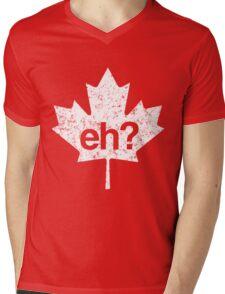 Eh? Canadian Maple Leaf Mens V-Neck T-Shirt