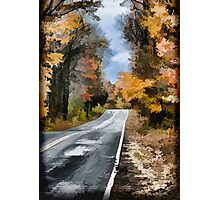 Fall Painted Country Road Photographic Print