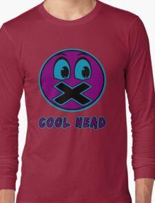 Cool Head Purple And Teal Long Sleeve T-Shirt