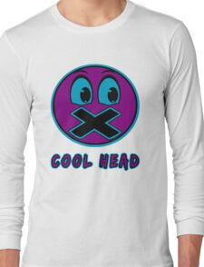 Cool Head Purple And Teal Long Sleeve T-Shirt
