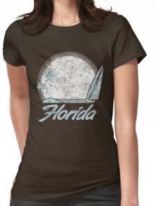 Florida Sailing Sunset Womens Fitted T-Shirt