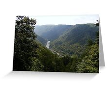 West Virginia Mountains Greeting Card