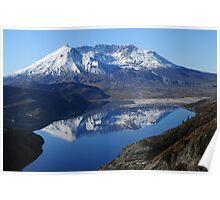 Mt St Helens & Spirit Lake Reflection_9236_101913 Poster