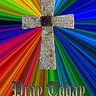 """pray today"" lord's prayer cross by dedmanshootn"