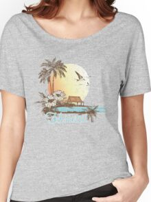 Hawaii Vintage Tropical Scene Women's Relaxed Fit T-Shirt