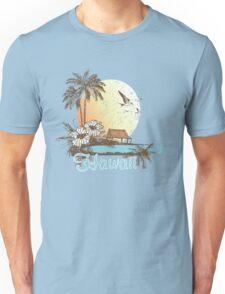 Hawaii Vintage Tropical Scene Unisex T-Shirt