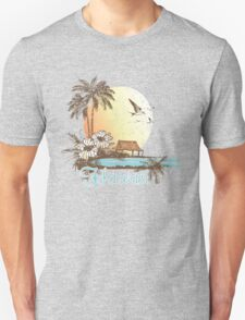 Hawaii Vintage Tropical Scene T-Shirt