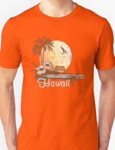 Hawaii Vintage Tropical Scene T-Shirt