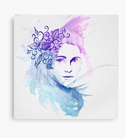 Watercolor Lady Canvas Print