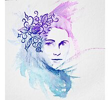 Watercolor Lady Photographic Print