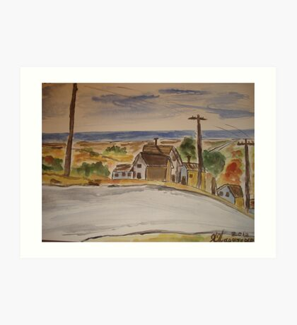 A ROAD TO THE WORLD Art Print