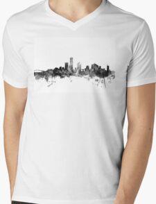 Milwaukee Wisconsin Skyline Mens V-Neck T-Shirt