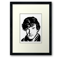 Benjamin Cumberbatch Sherlock Holmes Framed Print