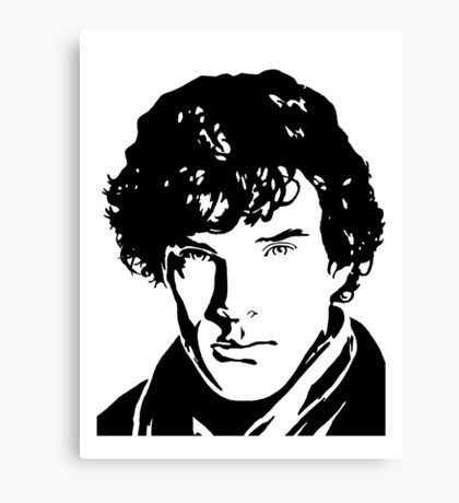 Benjamin Cumberbatch Sherlock Holmes Canvas Print