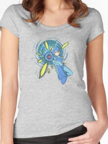 Megaman Megaman! Women's Fitted Scoop T-Shirt