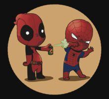 Deadpool and Spiderman by 96ashraf96