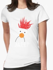 Beaker MEEP Womens Fitted T-Shirt