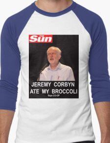 Jeremy Corbyn ate my broccoli Men's Baseball ¾ T-Shirt