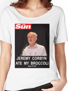 Jeremy Corbyn ate my broccoli Women's Relaxed Fit T-Shirt