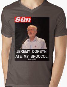 Jeremy Corbyn ate my broccoli Mens V-Neck T-Shirt