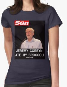 Jeremy Corbyn ate my broccoli Womens Fitted T-Shirt