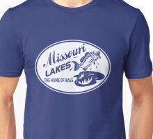 Missouri Lakes. The home of the bass Unisex T-Shirt