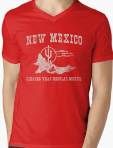 New Mexico. Cleaner than regular Mexico Mens V-Neck T-Shirt