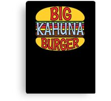 Big Kahuna Burger Tee Canvas Print