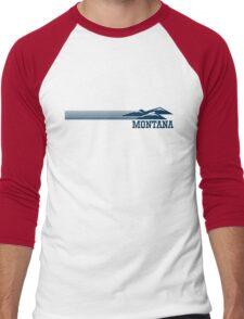 Retro Montana Skyline Men's Baseball ¾ T-Shirt