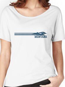 Retro Montana Skyline Women's Relaxed Fit T-Shirt