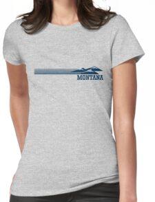 Retro Montana Skyline Womens Fitted T-Shirt