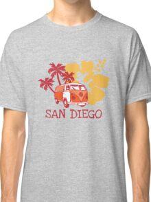 Retro San Diego Beach Scene Classic T-Shirt