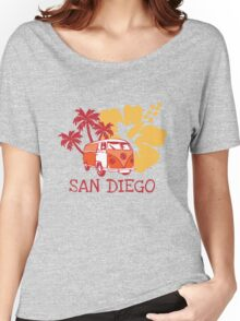 Retro San Diego Beach Scene Women's Relaxed Fit T-Shirt