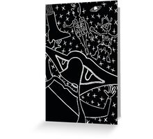 Space Cowboy Boot Greeting Card