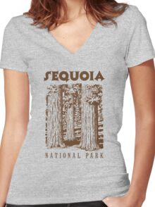 Sequoia National Park Women's Fitted V-Neck T-Shirt