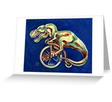 Tyrannosaurus on a Bicycle Greeting Card