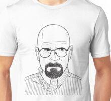 walter white line art breaking bad Unisex T-Shirt