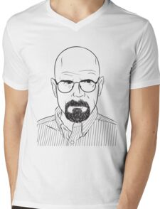 walter white line art breaking bad Mens V-Neck T-Shirt
