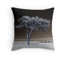 Infrared Tree Throw Pillow