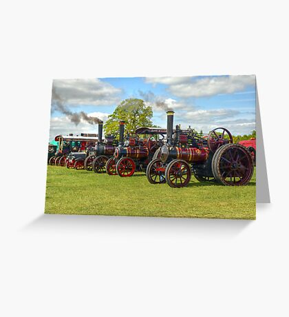 Steam Engines Galore Greeting Card