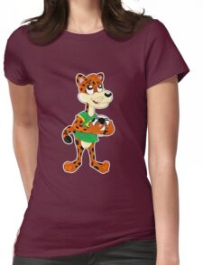 Cute cartoon jaguar Womens Fitted T-Shirt