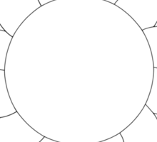 Bowling for Sunshine Mandala - Color Your Own! Sticker