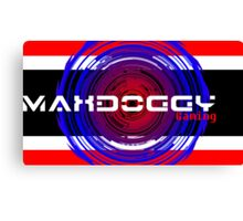 Maxdoggy Gaming - Black Text v2! Canvas Print