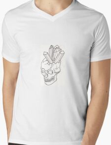 Skull crystal no.1 Mens V-Neck T-Shirt