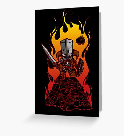 Dragon Crasher Greeting Card