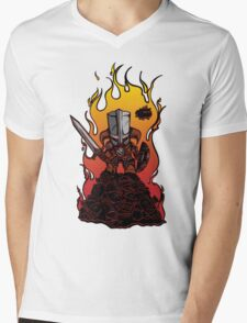 Dragon Crasher Mens V-Neck T-Shirt