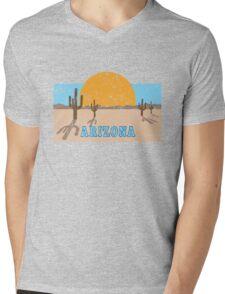 Vintage Arizona Desert Mens V-Neck T-Shirt