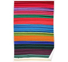 Stacked Colorful Blankets Poster