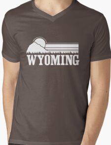 Wyoming Sunset Mens V-Neck T-Shirt
